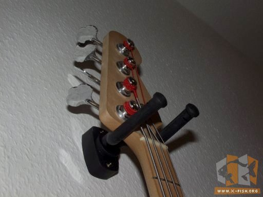 K/&M 16280-00 Gitarren-Wandhalter weiss