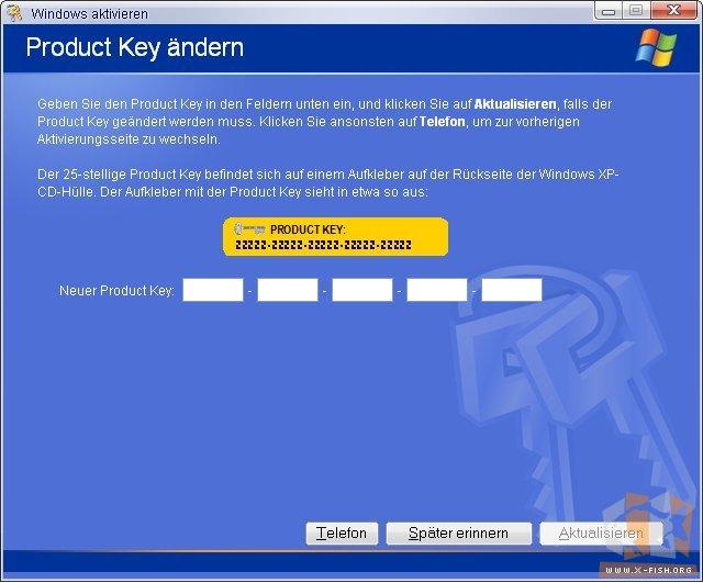 Key Xp Ändern Produkt