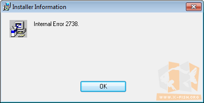 Internal Error 2738