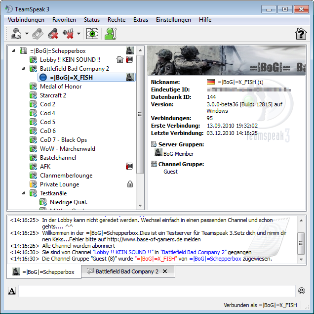 TeamSpeak 3 (Beta) unter Windows