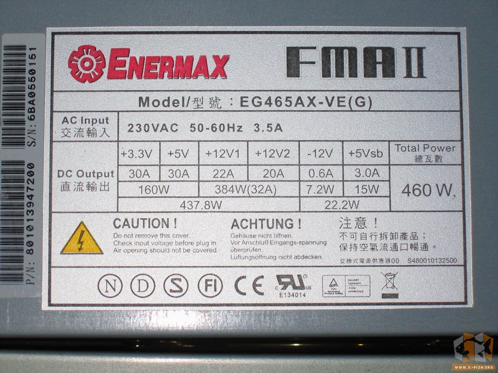 X_FISH\'s Homepage: Wieviel Watt hat ein Netzteil wirklich?