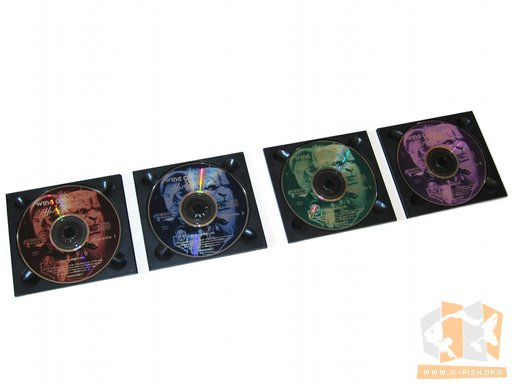 Die vier CDs von Wing Commander III – Heart of the Tiger in der Papphülle