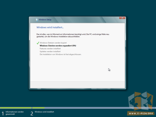 Windows 8 CP: Installation beginnt