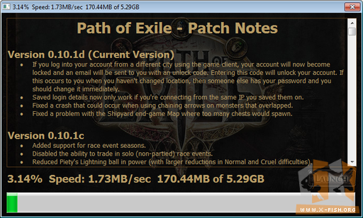 »Path of Exile«: Download der rund 5,3 GB via »PoE«-Installer