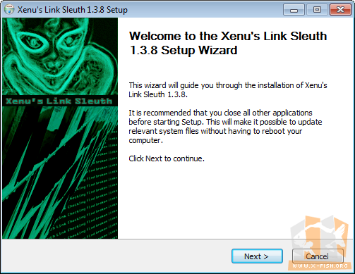 Xenu's Link Sleuth: Installation