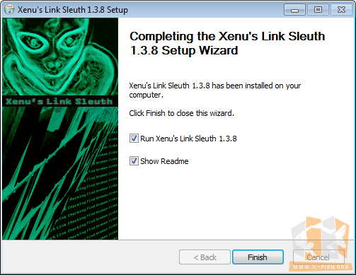 Xenu's Link Sleuth: Beendete Installation